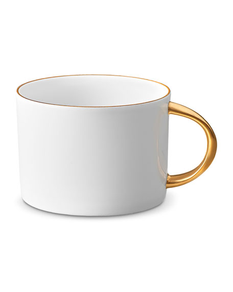 L'Objet Corde Tea Cup, White/Gold