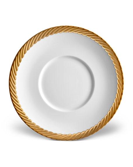 L'Objet Corde Saucer, White/Gold