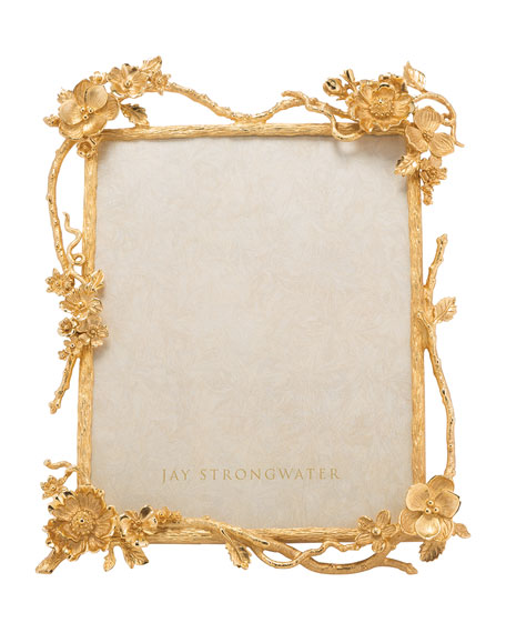 Jay Strongwater Floral Branch Picture Frame, 8