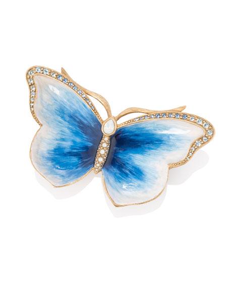 Jay Strongwater Indigo Butterfly Trinket Tray