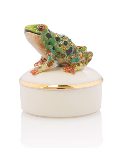 Frog Round Porcelain Box