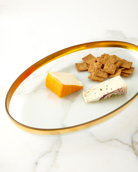 Annieglass Mod Large Oval Platter
