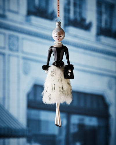 Lela in Faux-Fur Skirt Christmas Ornament