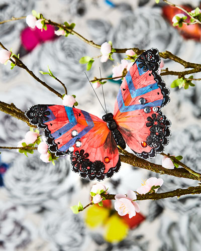 Multicolored Butterfly Clip
