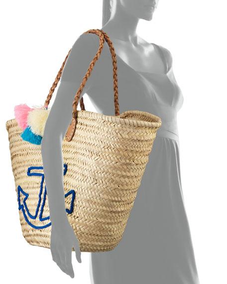 Palm Leaf Anchor Tote Bag