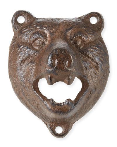 Bear Head Wall-Mount Bottle Opener