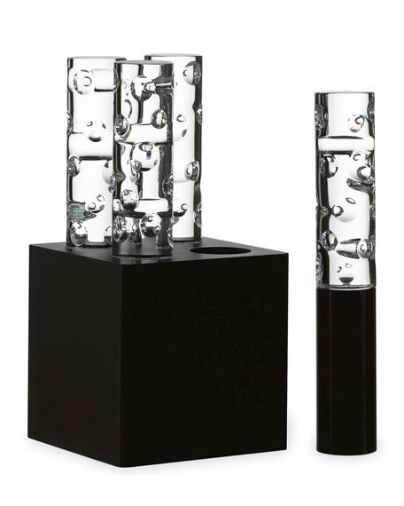 Jallum Pontil LED Crystal Lights, Set of Four