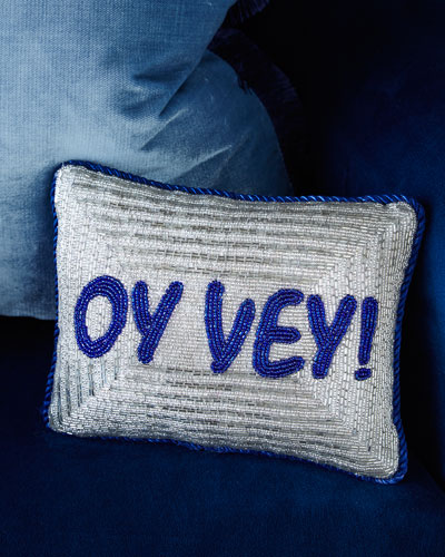 'Oy Vey!' Hanukkah Decorative Pillow