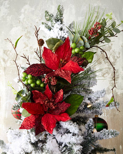 Christmas Poinsettia Branch