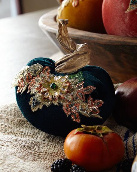 Katherine's Collection Spice Trader Velvet Pumpkin Decor -