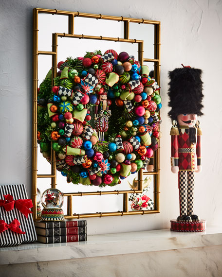 Mackenzie Childs Christmas.Nutcracker Large Christmas Wreath 30