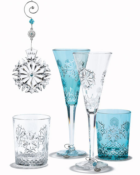 Snowflake Wishes Happiness Prestige Edition Double Old-Fashioned, Aqua