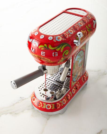 Dolce Gabbana x SMEG Sicily Is My Love Espresso Machine