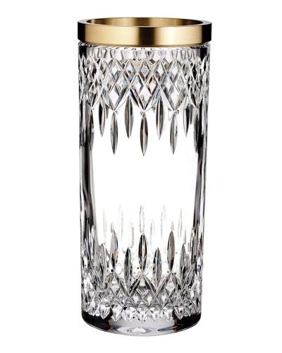 Lismore Reflections Gold Band Vase  12