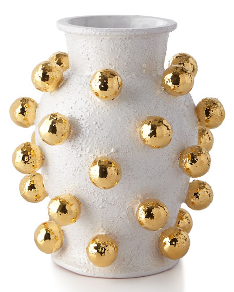 Dolfi Small Vase with Golden Spheres