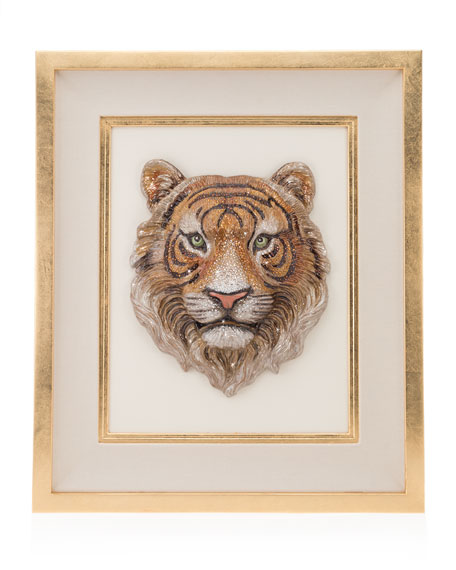Jay Strongwater Tiger Head Wall Art