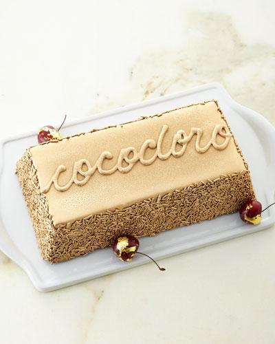 Gold-Bar Shaped Chocolate Fudge Cake