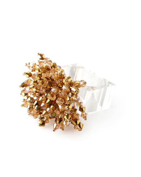 Kim Seybert Brilliant Napkin Ring - Golden