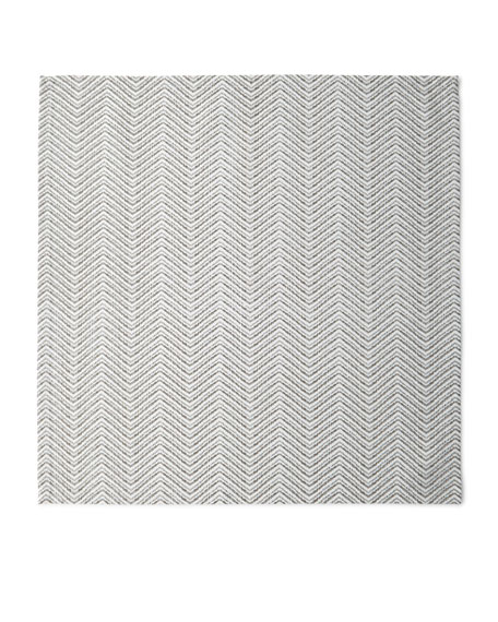 Drift Zigzag Napkin, White/Silver/Gold