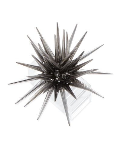 Astrid Starburst Napkin Ring  Gunmetal