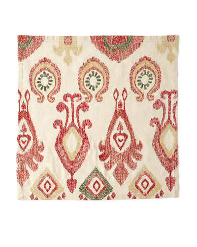 Marrakech Napkin  Natural/Red/Gold