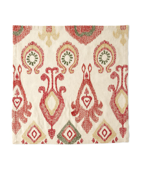 Kim Seybert Marrakech Napkin, Natural/Red/Gold