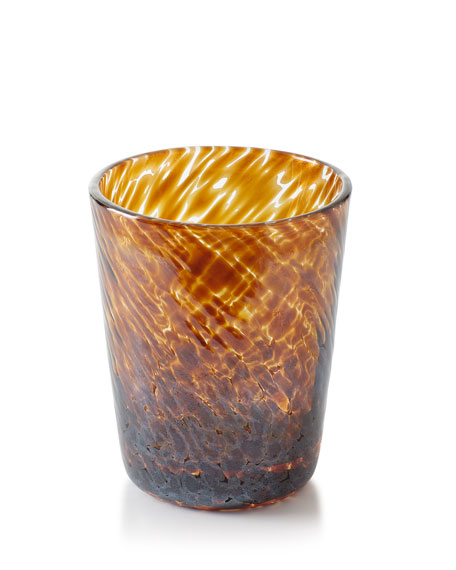 Vanessa Tortoise Double Old-Fashioned Glass