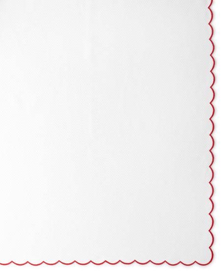 """Pique Tablecloth, 68"""" x 126"""""""