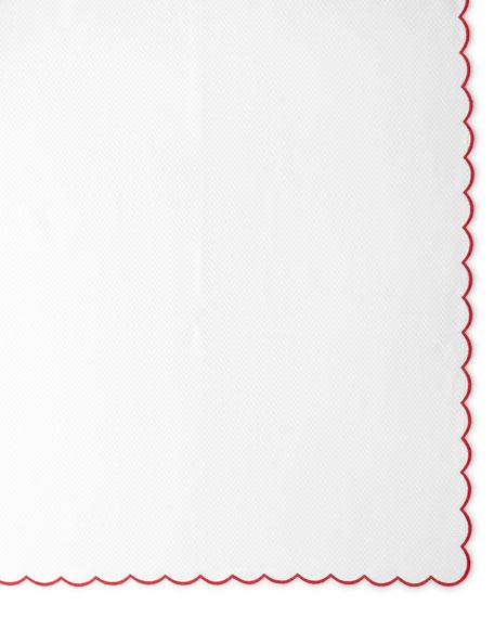 """Pique Tablecloth, 108""""Dia."""