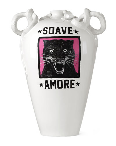 Snake Soave Amore Porcelain Vase