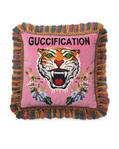 Embroidered Velvet Cushion Pillow