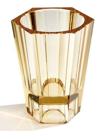 Large Reversible Crystal Vase  Topaz