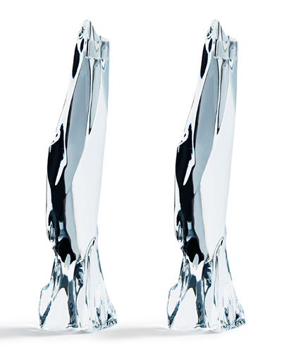 Glaciarium Large Candlestick Holders  Set of 2