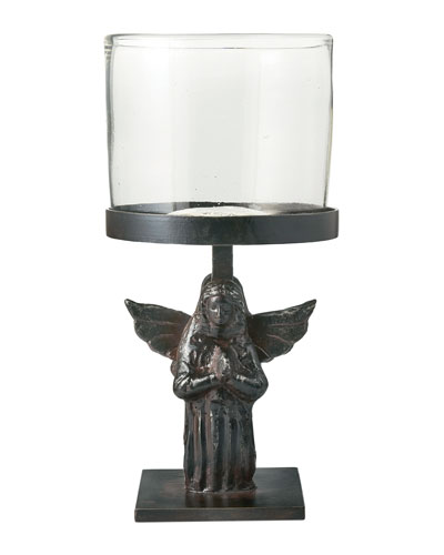 Angel D'Rodilla Statue Candle Holder