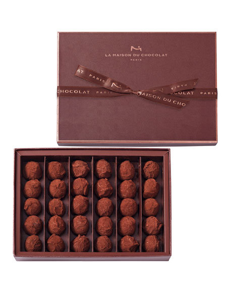 La Maison Du Chocolat 30-Piece Dark Chocolate Truffles