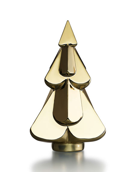 Baccarat Snow Fir Crystal Tree, Gold