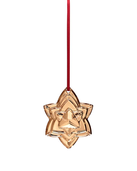 Baccarat 2018 Annual Crystal Christmas Ornament, Gold