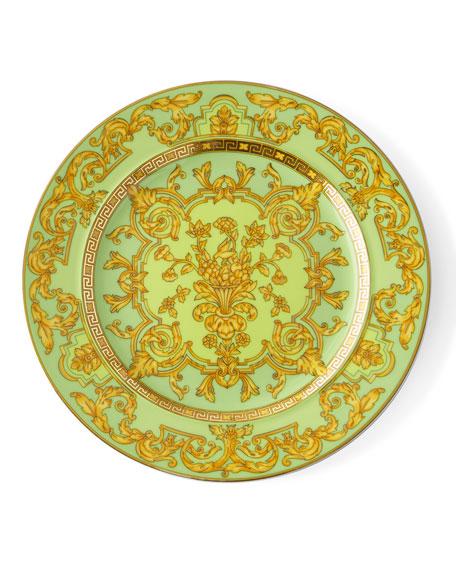 Versace 2003 Green Floralia Dessert Plate