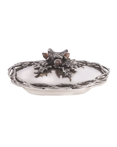 Holiday Deep Oval Serving Bowl with Cover