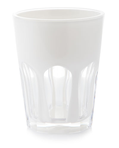 Double Face Acrylic Tumbler  White