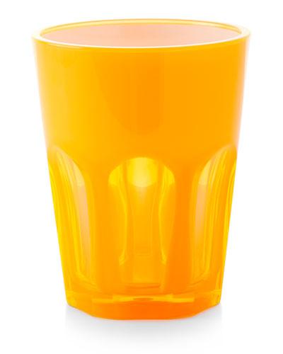 Double Face Acrylic Tumbler Glass  Orange