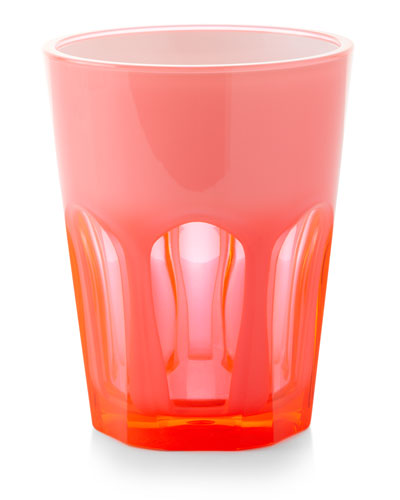 Double Face Acrylic Tumbler Glass  Fuchsia