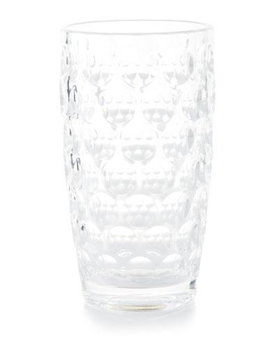 Lente Acrylic Highball Glass  Clear
