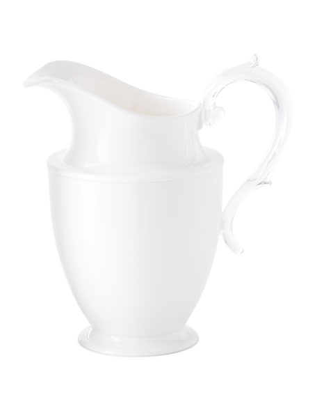 Federica Acrylic Pitcher, White