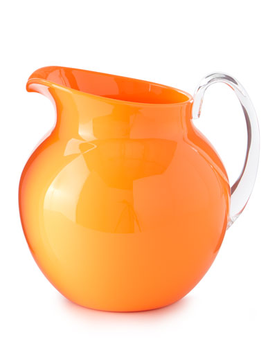 Palla Fluorescent Acrylic Pitcher  Orange