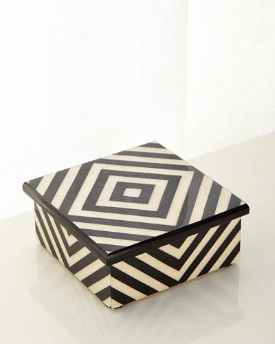 Diamond Inlaid Wood Box
