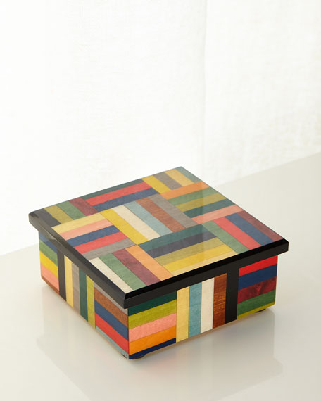 Barile Biagio Multicolored Inlaid Wood Box