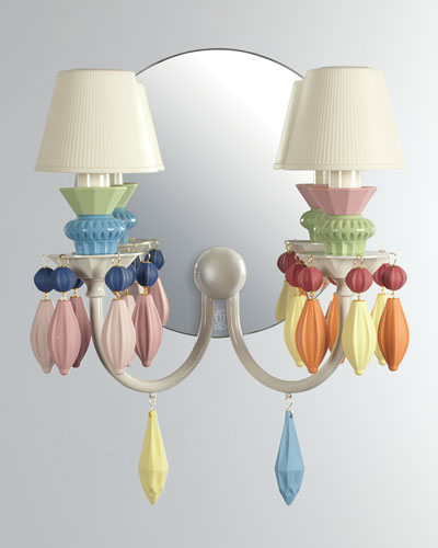 Belle de Nuit 2-Light Wall Sconce, Multi