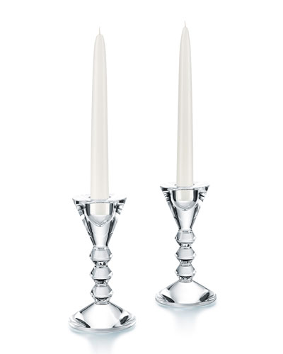 Vega Candlestick Holders, Set of 2