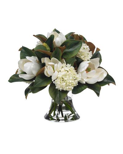 Large Magnolia & Hydrangea Bouquet